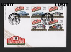 FDC 2017 RALLY Of PORTUGAL Cars Car Automobiles VW FIAT AUDI LANCIA RENAULT - Portugal