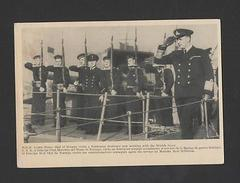 WWII WORLD WAR II WWII NORWAY BOAT NAVY WAR SHIP ROYALTY MONARCHY Card Z1 - Postcards