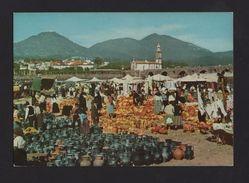 MINHO POSTCARD 1960years PONTE DE LIMA POTERY CERAMIC STREET MARKET PORTUGAL - Postcards