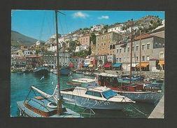 . GREECE Postcard 1970 Years HYDRA & Boats Z1 - Postcards