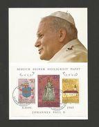 MAXIMUM CARD LIECHTENSTEIN 1985 POPE JOAN PAUL II JEAN PAUL II POPES   Z1 - Liechtenstein