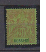 NOSSI BE         N°  YVERT  :   33        NEUF AVEC  CHARNIERES      ( Ch 1742    ) - Nossi-Bé (1889-1901)