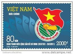 Vietnam Viet Nam MNH Stamp 2011 : 80th Anniversary Of Youth Communist Union (Ms1004) - Viêt-Nam