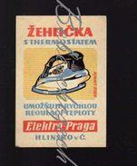 54-74 CZECHOSLOVAKIA 1958 Elektro-Praga Hlinsko - Old Eletric Clothes Iron - Iron With Thermostat - Scatole Di Fiammiferi - Etichette