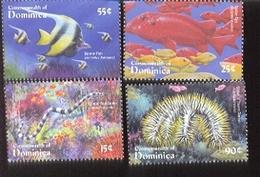DOMINICA   2268-1  MINT NEVER HINGED SET OF STAMPS OF FISH-MARINE LIFE - Vissen