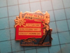 Pin513a Pin's Pins / Beau Et Rare : 153e RIA BRIANCON SALON D'ALTITUDE DU COLLECTIONNEUR  CHASSEURS ALPINS - Army