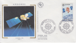 Enveloppe  1er  Jour   ANDORRE  ANDORRA   EUROPA    1991 - 1991