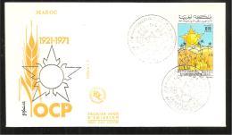 FDC   1971 O C P - Marruecos (1956-...)