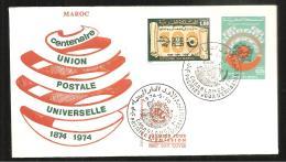 FDC   1974  U P U - Marruecos (1956-...)