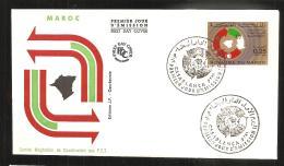 FDC   1973 Coordination Des P T T - Marruecos (1956-...)