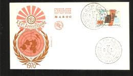 FDC   1970   O N U - Marruecos (1956-...)