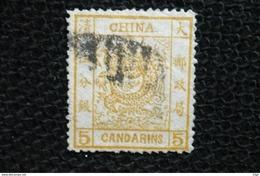 Chine 5 Candarins  N°3 Oblitéré - Cina