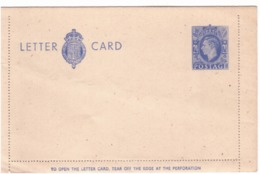 Letter-card New  George VI  G466 - 1902-1951 (Re)
