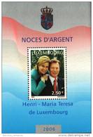 Luxembourg Bloc 1 Timbre à 2,50 Euros Noces D'Argent Henri - Maria Teresa De Luxembourg 2006 - Blocks & Sheetlets & Panes