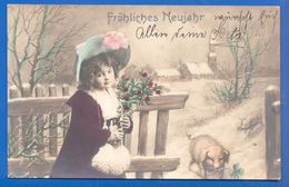 Fantaisie; Neujahr; Kind; 1907 Medgyes; Medias Nach Hosszufalu, Sacele; Romania - Anno Nuovo