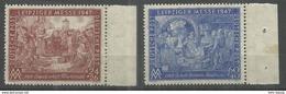 """Gemeinschaftsausgaben 941/942IIB""""Briefmarkensatz Leipziger Messe 47ín Stichtiefdruck""""postfrisch Mi.:3,00 - Soviet Zone"""