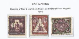 San Marino. 1894. Inauguración Palacio Gobierno. - Saint-Marin
