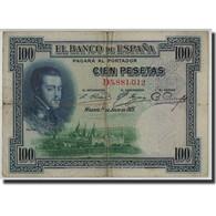Espagne, 100 Pesetas, 1925, KM:69c, 1925-07-01, B+ - [ 1] …-1931 : First Banknotes (Banco De España)