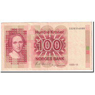 Norvège, 100 Kroner, 1988, KM:43d, TTB - Norway