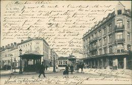 AK Bruxelles Schaerbeek, La Place Du Pavillon, Tram à Cheval, Pferdestraßenbahn, Pferd, O 1902 (25963) - Schaerbeek - Schaarbeek