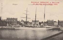 "DIEPPE  Le Yacht "" Alberta "" Dans Le Bassin Berigny ( Pub Chocolat Debauve & Gallais ) - Dieppe"
