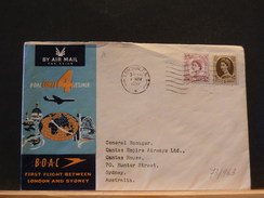 73/963   DOC.    G.B.  1° FLIGHT SYDNEY  1959 - Lettres & Documents