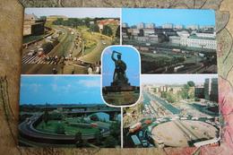 POLAND. Warszawa. Mermaid Sulpture  (w Tram) OLD PC 1980S Tramway - Strassenbahnen