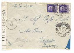 ALBANIA - OCCUPAZIONE ITALIANA - 1941 - ENVELOPPE Avec TàD UFFICIO CONCENTRAMENTO F. M. 402 Avec CENSURE / CENSURA - Occupation 2ème Guerre Mond. (Italie)