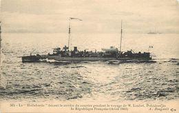 LA HALLEBARDE - Faisant Le Service Du Courrier Pendant Le Voyage De M. Loubet (Avril 1903). - Guerre