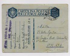 ALBANIA - OCCUPAZIONE ITALIANA - 1941 - ENTIER POSTA MILITARE Avec CACHET 36° REGG ARTIGLIERIA DIV. DI FANTERIA FORLI - Occupation 2ème Guerre Mond. (Italie)
