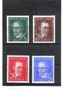 OST798  ESTLAND 1938  MICHL  138/41 (*) ERSTFALZ   SIEHE ABBILDUNG - Estland