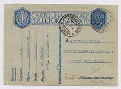 ALBANIA - OCCUPAZIONE ITALIANA - 1940 - ENTIER POSTA MILITARE Avec CACHET UFFICIO POSTALE MILITARE *203* - Occupation 2ème Guerre Mond. (Italie)