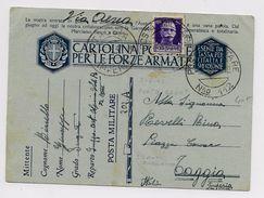 ALBANIA - OCCUPAZIONE ITALIANA - 1941 - ENTIER POSTA MILITARE N° 112 Pour TAGGIA (IMPERIA) - Occupation 2ème Guerre Mond. (Italie)