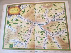 """DIV0714 : Jolie Repro De Carte Ancienne Années 1600/1700 ?  AMIENOIS De Muscade ?  (série """"VIEUX PAYS DE FRANCE"""" N°65) , - Geographical Maps"""