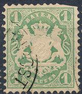 Stamp Bavaria 1870-72 1kr Used Lot#4 - Bavaria