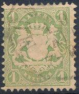 Stamp Bavaria 1870-72 1kr Used Lot#7 - Bavaria