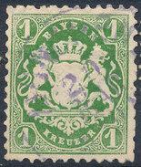 Stamp Bavaria 1870-72 1kr Used Lot#11 - Bavaria