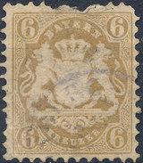 Stamp Bavaria 1870-72 6kr Used Lot#13 - Bavaria