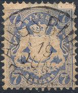 Stamp Bavaria 1870-72 7kr Used Lot#16 - Bavaria