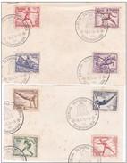1936 - Allemagne - WW2 - 2e Guerre Mondiale - Berlin - Jeux Olympiques D' été - Série De Timbres Sur Documents Souvenirs - Allemagne