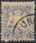 Stamp Bavaria 1870-72 7kr Used Lot#19 - Bavaria