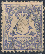 Stamp Bavaria 1870-72 7kr Used Lot#20 - Bavaria