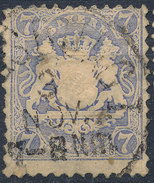 Stamp Bavaria 1870-72 7kr Used Lot#21 - Bavaria