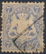 Stamp Bavaria 1870-72 7kr Used Lot#25 - Bavaria