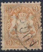 Stamp Bavaria 1870-72 9kr Used Lot#27 - Bavaria