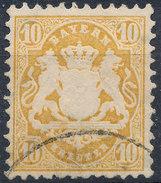 Stamp Bavaria 1870-72 10kr Used Lot#29 - Bavaria