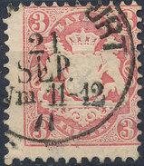 Stamp Bavaria 1870-72 3kr Used Lot#40 - Bavaria