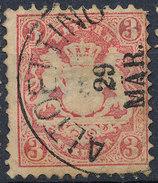 Stamp Bavaria 1870-72 3kr Used Lot#41 - Bavaria