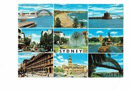 Cpm - Australie - Sydney - Multivues Archibald Fountain Tortue Pont - Sydney