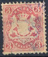 Stamp Bavaria 1870-72 3kr Used Lot#42 - Bavaria